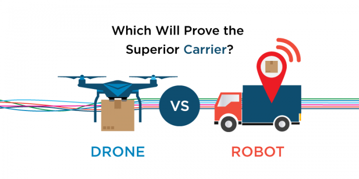 Drone vs Robot: Which Will Prove the Superior Carrier?