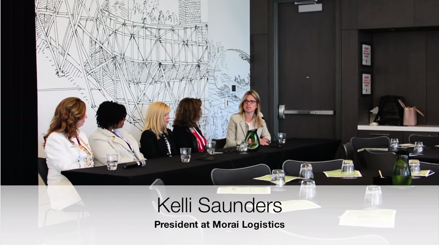 Kelli Saunders, President of Morai Logistics, speaking on her journey to becoming President